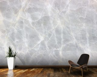 Light Grey Marble Wall Mural Wallpaper