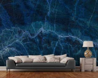 Dark Blue Marble Mural Wallpaper Wallpaper Wall Murals