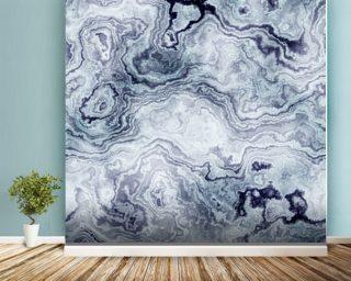 Blue Swirl Marble Wall Mural Wallpaper
