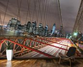 Manhattan Skyline from Brooklyn Bridge wall mural kitchen preview