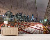 Manhattan Skyline from Brooklyn Bridge wall mural living room preview