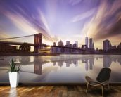 Brooklyn Bridge Sunset mural wallpaper kitchen preview
