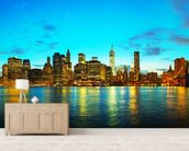 New York Cityscape at Sunset wall mural living room preview