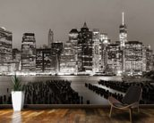 New York at Night mural wallpaper kitchen preview