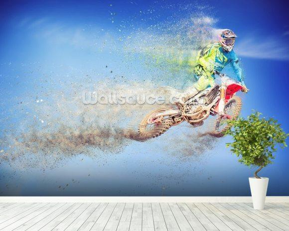 Motocross Dissolves Wall Mural Motocross Dissolves Wallpaper