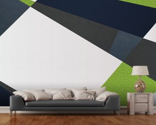 Green and Blues Wallpaper Wall Murals
