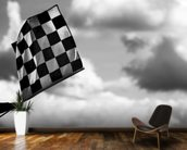 Chequered Flag 2 Belgium 2014 mural wallpaper kitchen preview