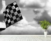 Chequered Flag 2 Belgium 2014 mural wallpaper in-room view
