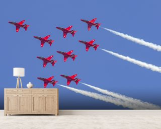 The Red Arrows aerobatic team formation Wallpaper Wall Murals