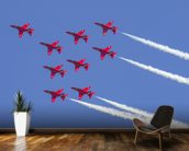 The Red Arrows aerobatic team formation wall mural kitchen preview