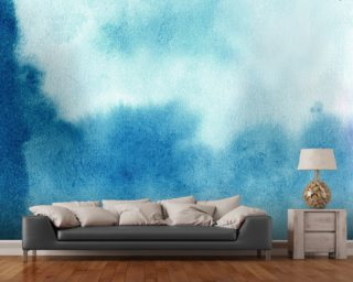 Blue Skies Watercolor Wallpaper Wallpaper Wall Murals