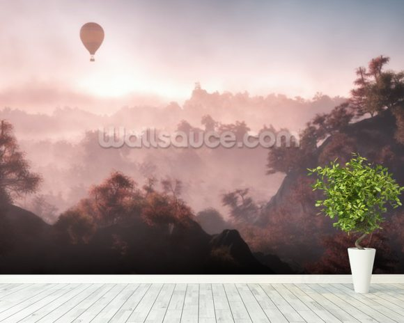 Tree Top View wall mural room setting
