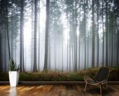 Morning Forest Mist mural wallpaper kitchen preview