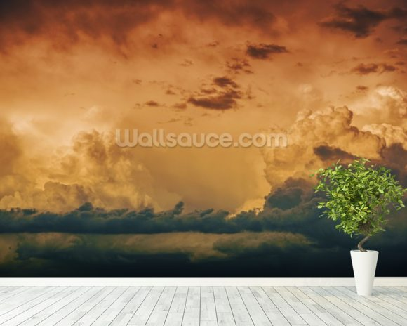 Stormy Horizon wallpaper mural room setting