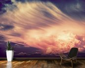 Scenic Sunset Storm mural wallpaper kitchen preview