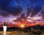 Mountain Range Sunset wall mural kitchen preview