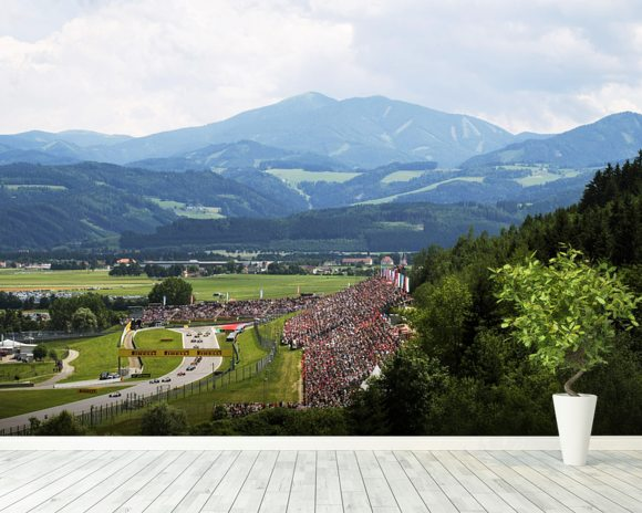 Lap 1 Austria 2014 mural wallpaper room setting