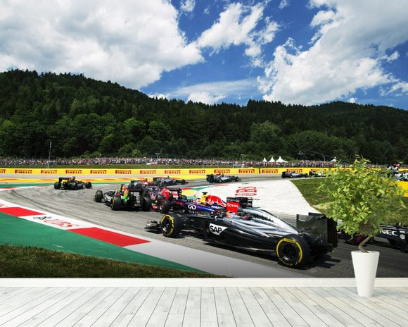 Lap 1 Turn 2 Austria 2014 wall mural room setting