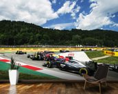 Lap 1 Turn 2 Austria 2014 wall mural kitchen preview