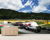 Lap 1 Turn 2 Austria 2014 wall mural living room preview