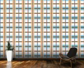 Orange and Blue Pattern wall mural kitchen preview