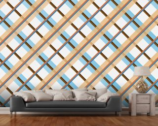 Orange and Blue Vintage Photo Wallpaper Wall Murals Wallpaper