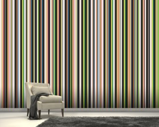 Twisted Pixels Stripes mural wallpaper