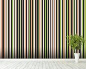 Twisted Pixels Stripes mural wallpaper in-room view