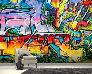 Colourful Graffiti Mural & Graffiti Wallpaper u0026 Wall Murals | Wallsauce USA