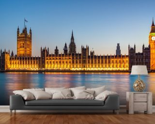 Houses of Parliament at Dusk Wall Mural Wall Murals Wallpaper