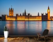 Houses of Parliament at Dusk mural wallpaper kitchen preview