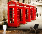 Red Telephone Boxes wall mural kitchen preview