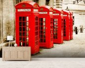 Red Telephone Boxes wall mural living room preview