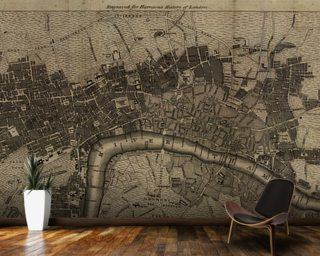World map wallpaper wall murals wallsauce uk old london map gumiabroncs Gallery
