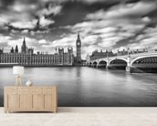 Westminster Bridge London wall mural living room preview