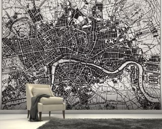 World map wallpaper wall murals wallsauce uk historical map of london gumiabroncs Gallery