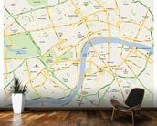 London Map wallpaper mural kitchen preview