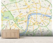 London Map wallpaper mural living room preview