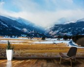 Mountains Winter Scenery wallpaper mural kitchen preview