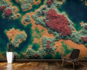 Aerial of wetland wallpaper mural kitchen preview