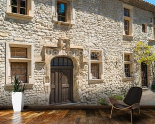 Provence Village House, France mural wallpaper