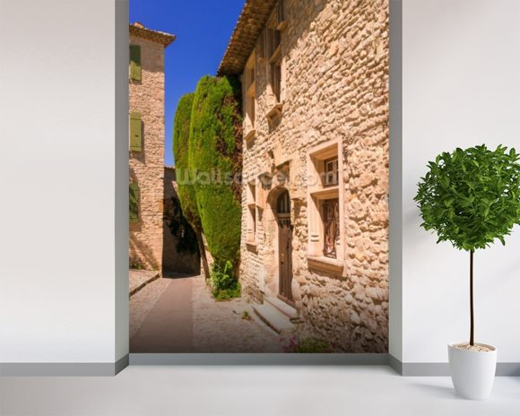 Provence Town House, France wall mural room setting