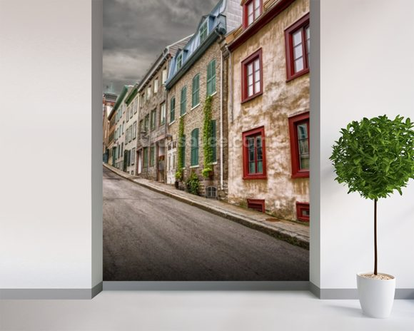 Stone Town Houses wall mural room setting