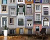 Lisbon Windows wallpaper mural kitchen preview