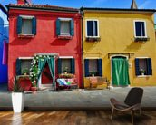 Colourful Burano Island Houses wall mural kitchen preview