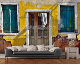Burano Village House, Venice mural wallpaper