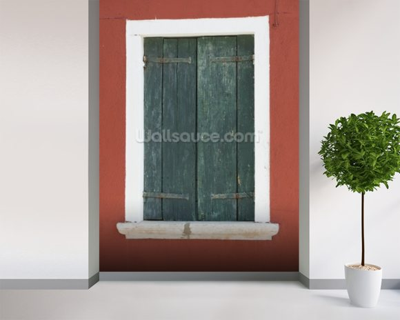 Burano Venice Window mural wallpaper room setting