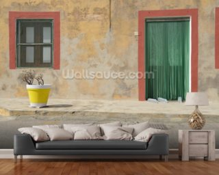Linosa Village House mural wallpaper