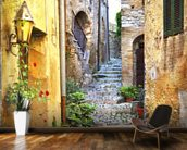 Mediterranean Old Town Street wall mural kitchen preview