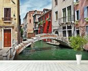 Pictorial Venice wall mural in-room view
